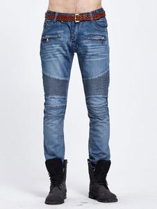 blue-denim-jeans-men-skinny-leg-biker-jeans