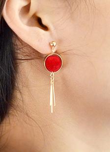 Image of Goccia rossa orecchini orecchini lega Chic per le donne