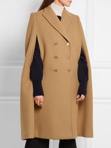 Image of Doppio petto palangaro Oversize Poncho cappotto poncho in lana c