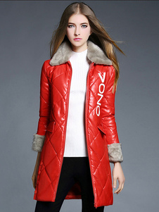 red-quilted-coat-winter-women-faux-fur-letters-deco-lined-longline-coat