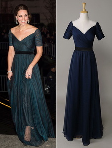 Marina de guerra oscuro Kate Middleton el vestido Arden