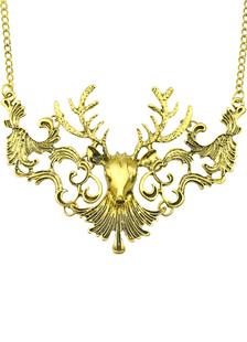 Image of Collana d'oro etnica animale metallica da 18-24 pollici