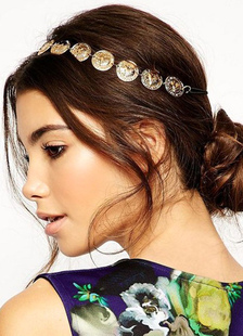 gold-hairband-disk-pattern-metal-hair-accessories