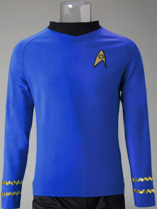 Image of Star Trek Spock Cosplay Costume T Shirt manica lunga Carnevale