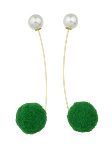 Image of Pon pon penzolare orecchino perla orecchini per le donne