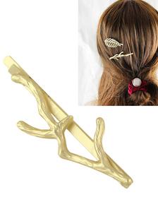 Image of Tornante oro ramo tagliato con accessori per capelli in metallo