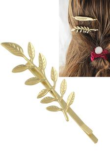 Image of Forcella del metallo dell'oro lega Leaf Pattern accessori per capelli