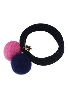 Image of Accessori capelli elastico nero cravatta Pom Poms