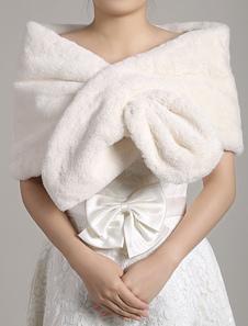 faux-fur-stole-wedding-shawl-open-front-ivory-fluffy-bridal-wrap-shrug