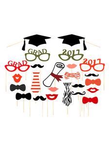 Image of Foto di graduazione puntelli Multicolor accademico partito foto stand puntelli Halloween