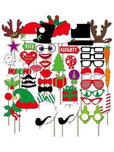 Image of Foto di Natale puntelli Multicolor partito Booth puntelli In 50 pz Halloween