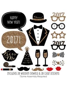 Image of Foto stand puntelli 2017 Happy New Year delicata foto puntelli dell'uomo In 20 pz Halloween
