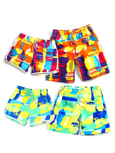 Image of Spiaggia di hawaiano Board Shorts uomo colore blocco con couliss