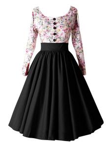 Image of Abbigliamento vintage vintage in fibre di cotone bicolore a pieghe medio