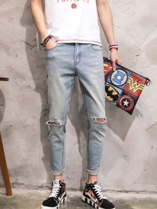 men-ripped-jeans-blue-cropped-denim-jeans
