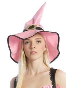 Image of Rosa strega cappello carnevale strega Costume accessori donna Carnevale