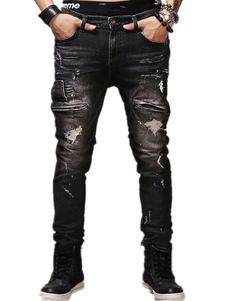 black-ripped-jeans-men-straight-leg-biker-jeans