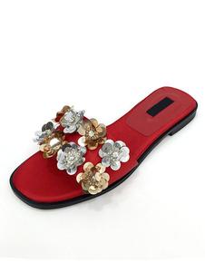 red-sandal-slippers-satin-women-flowers-beaded-slippers