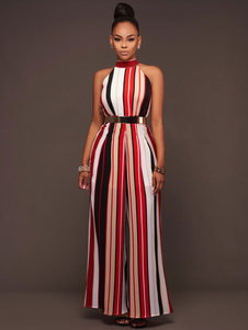 red-hobo-jumpsuit-women-halter-sleeveless-stripes-printed-color-block-shaping-playsuit
