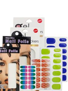 Image of Adesivi per unghie Set Multi colore carta chiodo stagnole Compact donna