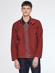 brick-red-jacket-men-zip-up-casual-lightweight-jacket