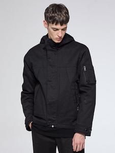 Image of Giacca corta da uomo con cappuccio manica lunga Regular Fit inverno giacca