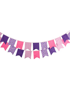 pink-wedding-decorations-multicolor-bunting-banner-flags-clipart