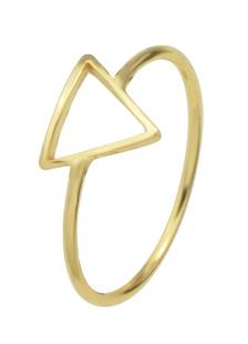 Image of Anelli di fidanzamento di oro femminile anelli in lega triangolo geometrico forma