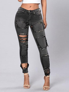 women-ripped-jeans-black-cut-outs-distressed-skinny-ragged-denim-pants