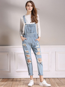 ripped-overall-jeans-light-blue-straight-pinafore-jeans-for-women