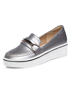 platform-wedge-shoes-women-round-toe-slip-on-metallic-detail-academic-style-shoes