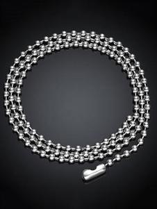 Acero inoxidable Punk Vintage collar de perlas cadena collar hombres de plata