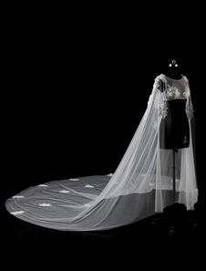 Image of Coprispalle per la sposa accessori avorio pizzo a girocollo smanicato senza Fermaglio