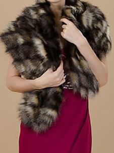 faux-fur-stole-wedding-shawl-black-fluffy-bridal-shrug-wrap