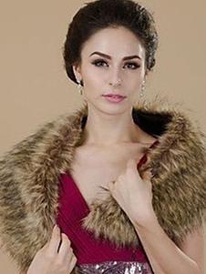 faux-fur-stole-wedding-shawl-light-tan-fluffy-bridal-wrap-shrug