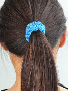 Image of Blu nastro elastico capelli capelli donne cravatta