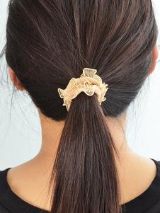 Image of Titolare coda di cavallo capelli kaki Tie Ruffles elastico donna