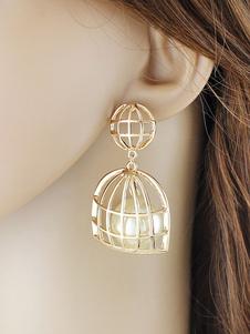 Image of Orecchini di moda festa ori chic & moderni perle perle bucato in lega d'acciaio