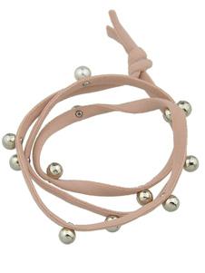 Image of Perline Ponytail Holder accessori capelli grigi Band femminile