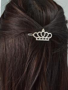 Image of Fermagli per capelli d'argento in lega capelli accessori donna
