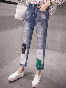 blue-ripped-jeans-high-waisted-printed-distressed-cropped-jeans-for-women