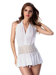 white-babydoll-dress-halter-illusion-sleepwear-sexy-lingerie