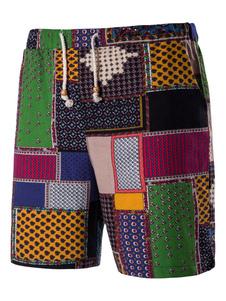 Image of Pantaloncini chic & moderni verdi con blocchi di colore pantalon