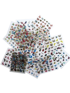 Image of Decalcomanie del chiodo di forma trasparente Nail Stickers farfalle