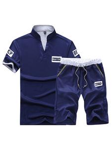 Image of Abbigliamento sportivo set vestibilità Comodo con colletto alla