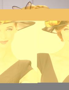 Image of Cappello Vintage Feather Organza fiore Retro cappello donna Carn