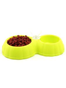 Image of Cibo per animali ciotola cane gatto acqua automatico Dispenser plastica doppia ciotola piatto bere alimentatore Carnevale
