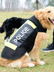 Disfraz de mascota de algodón para mascotas de policía negro estilo informal para ocasión informal  Halloween