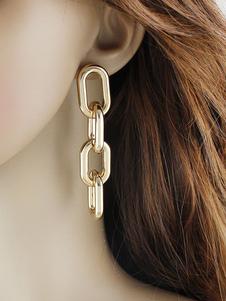 Image of Orecchini di moda in lega d'acciaio bucato orecchini pendenti chic & moderni catenine crociera