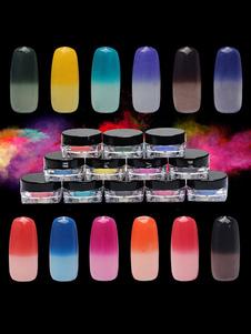 Image of Adesivi per unghie Dito monocolore donna gesso Pastello di Color